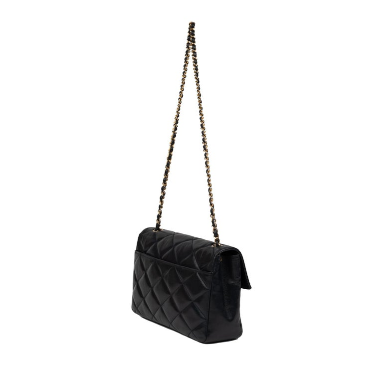 Chanel Navy Lambskin shouldr Bag For Sale 2