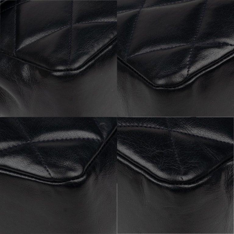 Chanel Navy Lambskin shouldr Bag For Sale 4