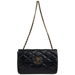 Chanel Navy Lambskin shouldr Bag