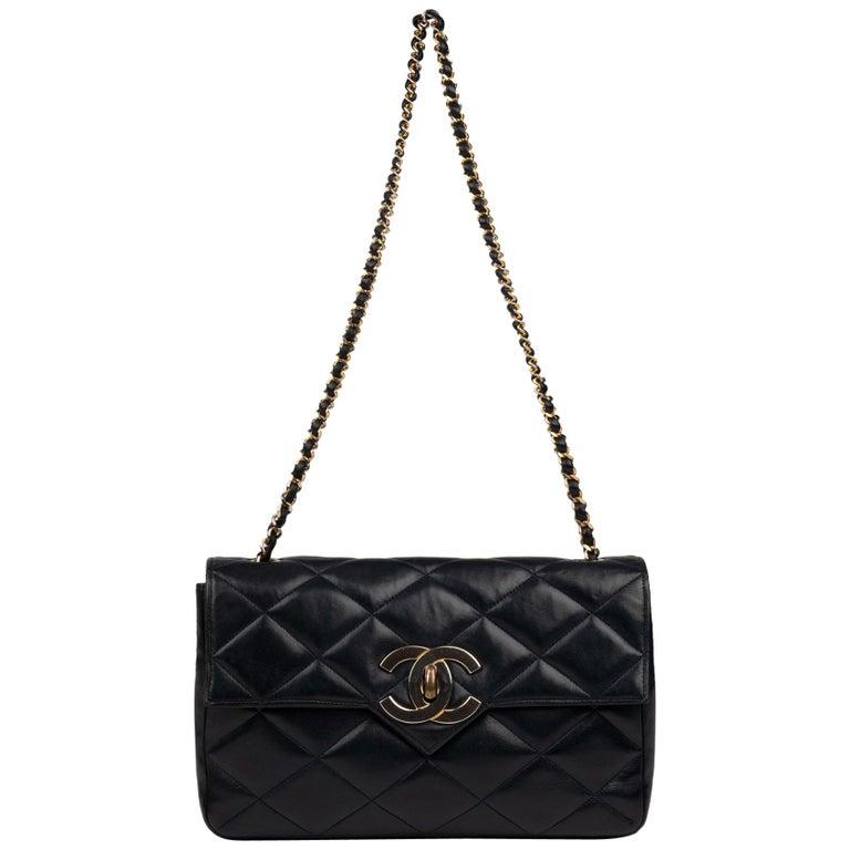 Chanel Navy Lambskin shouldr Bag For Sale