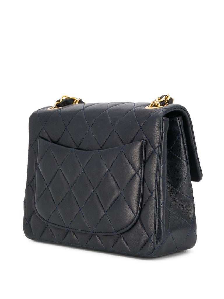 Women's Chanel Navy Leather Crossbody Bag For Sale