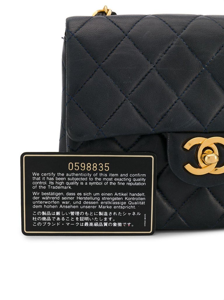 Chanel Navy Leather Crossbody Bag For Sale 2