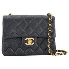 Chanel Navy Leather Crossbody Bag