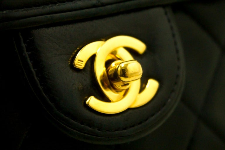 e77d13a7ce2b CHANEL Navy Mini Square Small Chain Shoulder Crossbody Bag Purse For Sale 7
