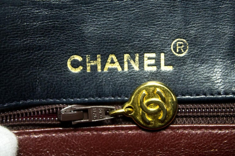 45c7b9d2d23a CHANEL Navy Mini Square Small Chain Shoulder Crossbody Bag Purse For Sale 10