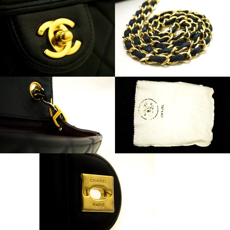4e81d7b958b2 CHANEL Navy Mini Square Small Chain Shoulder Crossbody Bag Purse For Sale 3