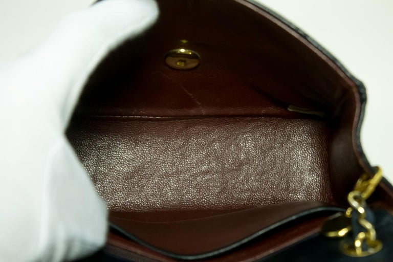 220bbe57d15f CHANEL Navy Mini Square Small Chain Shoulder Crossbody Bag Purse For Sale 4