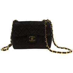 Chanel Navy Single Flap Quilted Bag