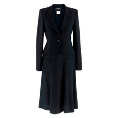 Chanel Navy Tailored Classic Jacket & Skirt S