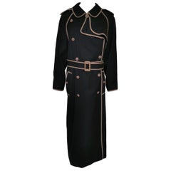 Chanel Navy Vintage 1990s Blue Trench Coat