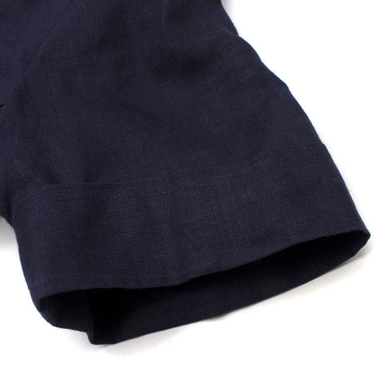 Women's Chanel Navy Wool Short Sleeve Jacket 36 (FR)