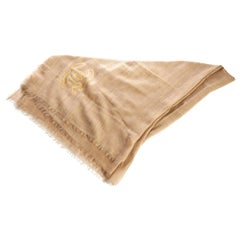 Chanel New Beige Cashmere Large Shawl