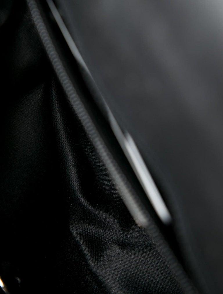 Women's Chanel NEW Black Suede Multi Swarovski Crystal Silver Small Shoulder Flap Bag For Sale