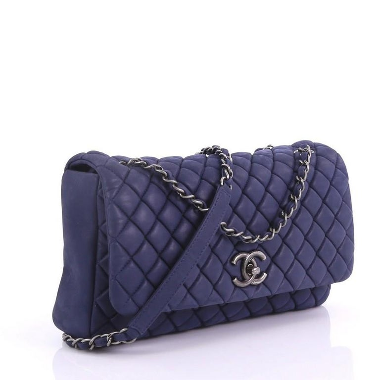 cbfb157c534c Purple Chanel New Bubble Flap Bag Quilted Iridescent Calfskin Large For Sale