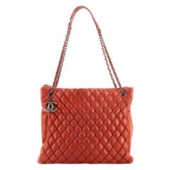 Chanel New Bubble Tote Quilted Calfskin North South