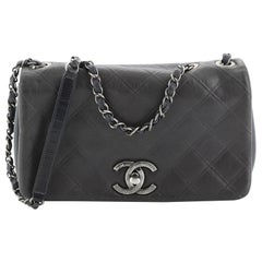Chanel New Chic Flap Bag Embossed Quilted Leather Medium