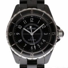 Chanel New J12 H0685 Midsize Unisex Black Ceramic Box/Paper/Warranty #CH1