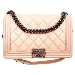 Chanel New Medium Boy Bag - Pink blush/Nude