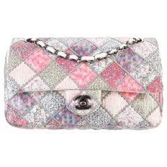 Chanel NEW Multi-Color Pink QuiltSequin Medium Evening Shoulder Flap Bag W/Box