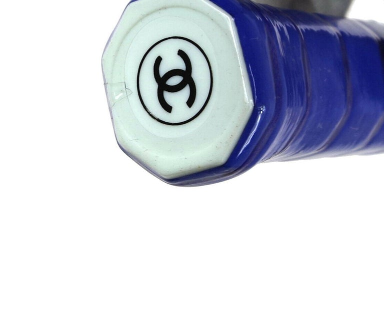 Chanel NEW Off White Blue CC Logo Sports Game Novelty Tennis Racquet  In New Condition In Chicago, IL