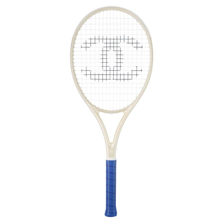 Chanel NEW Off White Blue CC Logo Sports Game Novelty Tennis Racquet