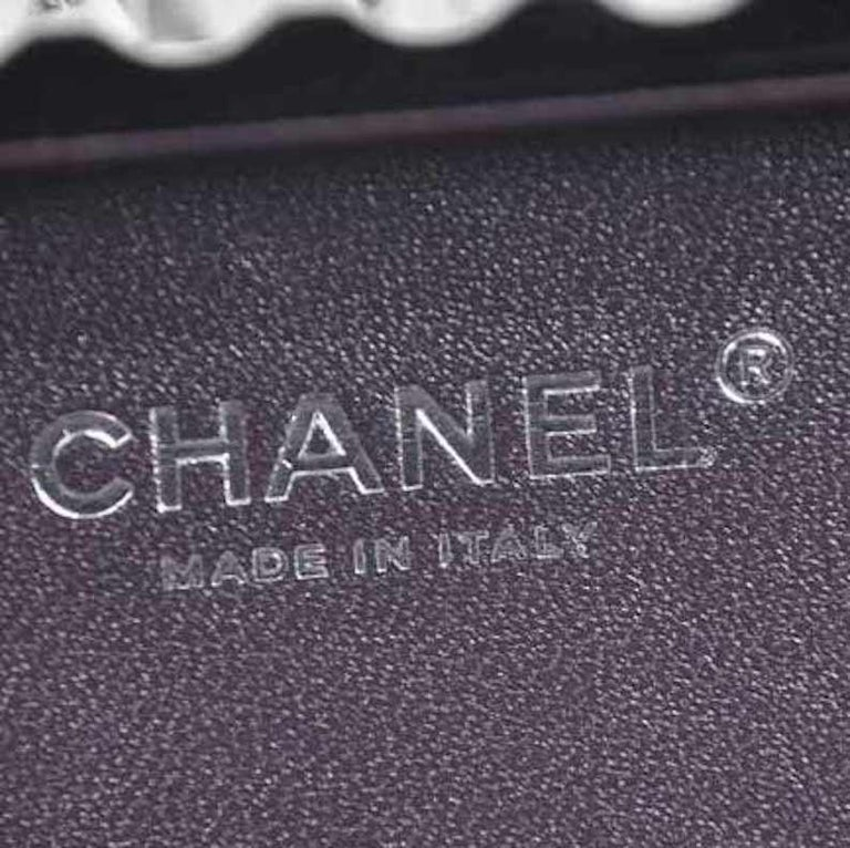 Chanel NEW Runway Black Silver Rectangle Box 2 in 1 Clutch Shoulder Bag in Box  For Sale 3