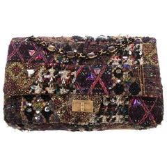 Chanel NEW Runway Multi Color Tweed Jewel Medium Shoulder Flap Bag in Box