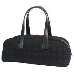 CHANEL New Travel Line Mini boston Womens Boston bag black