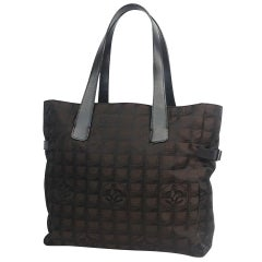 CHANEL New Travel Line tote GM tote bag A15825 dark brown