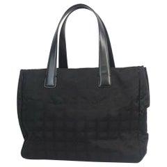 CHANEL New Travel Line tote PM tote bag A20457 black