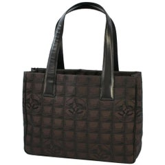CHANEL New Travel Line tote PM Womens tote bag A20457 dark brown