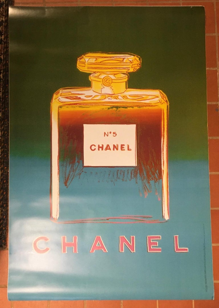 Andy Warhol Poster Chanel 5, from a set of 4 different colors. 1997 (We also have the full set of four colors). This listing is only for one