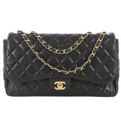 Chanel Now and Forever Flap Bag Quilted Lambskin Jumbo