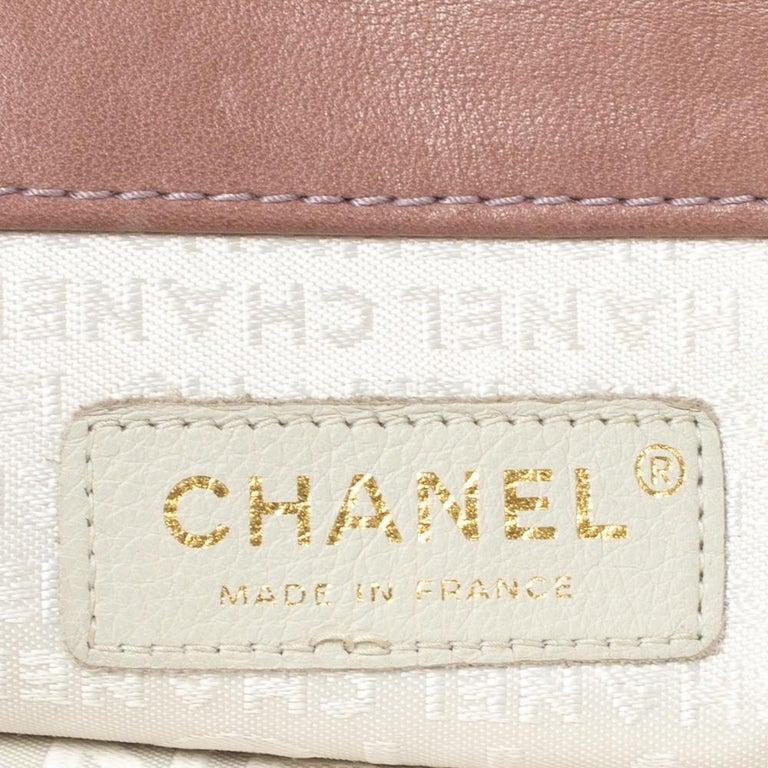 Chanel Nude Pink Velvet Mademoiselle Lock Flap Bag For Sale 8