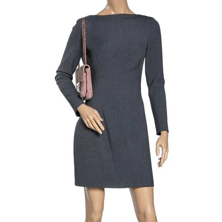 Chanel Nude Pink Velvet Mademoiselle Lock Flap Bag In Fair Condition For Sale In Dubai, Al Qouz 2