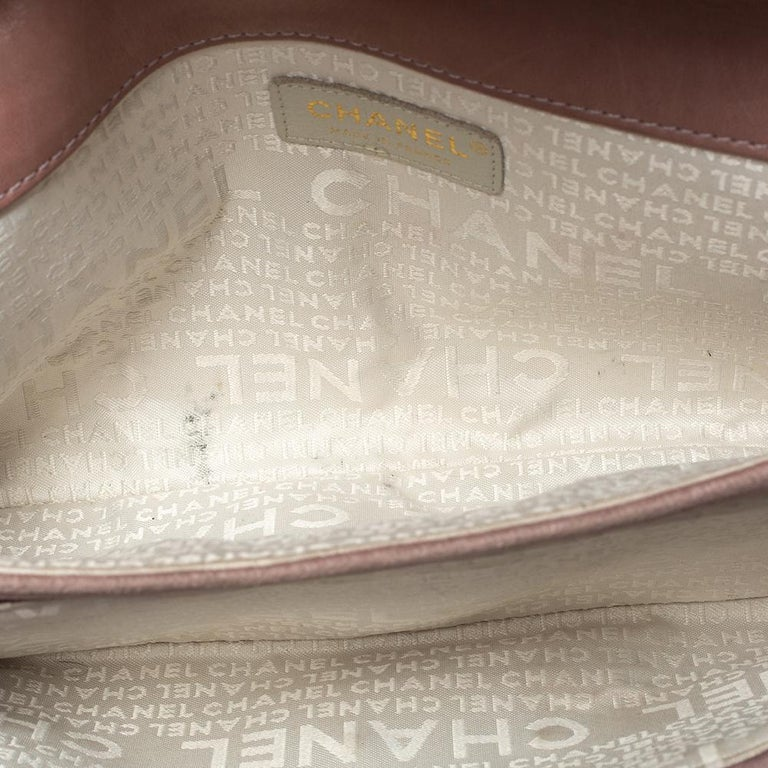 Chanel Nude Pink Velvet Mademoiselle Lock Flap Bag For Sale 3
