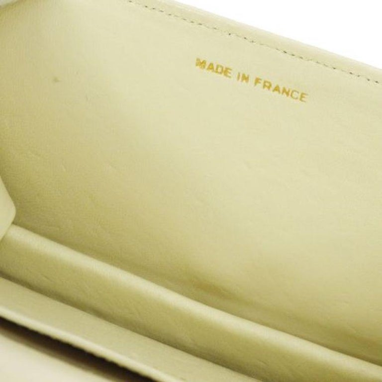 Chanel Nude Tan Lizard Exotic Leather Gold WOC Clutch Evening Flap Shoulder Bag For Sale 3