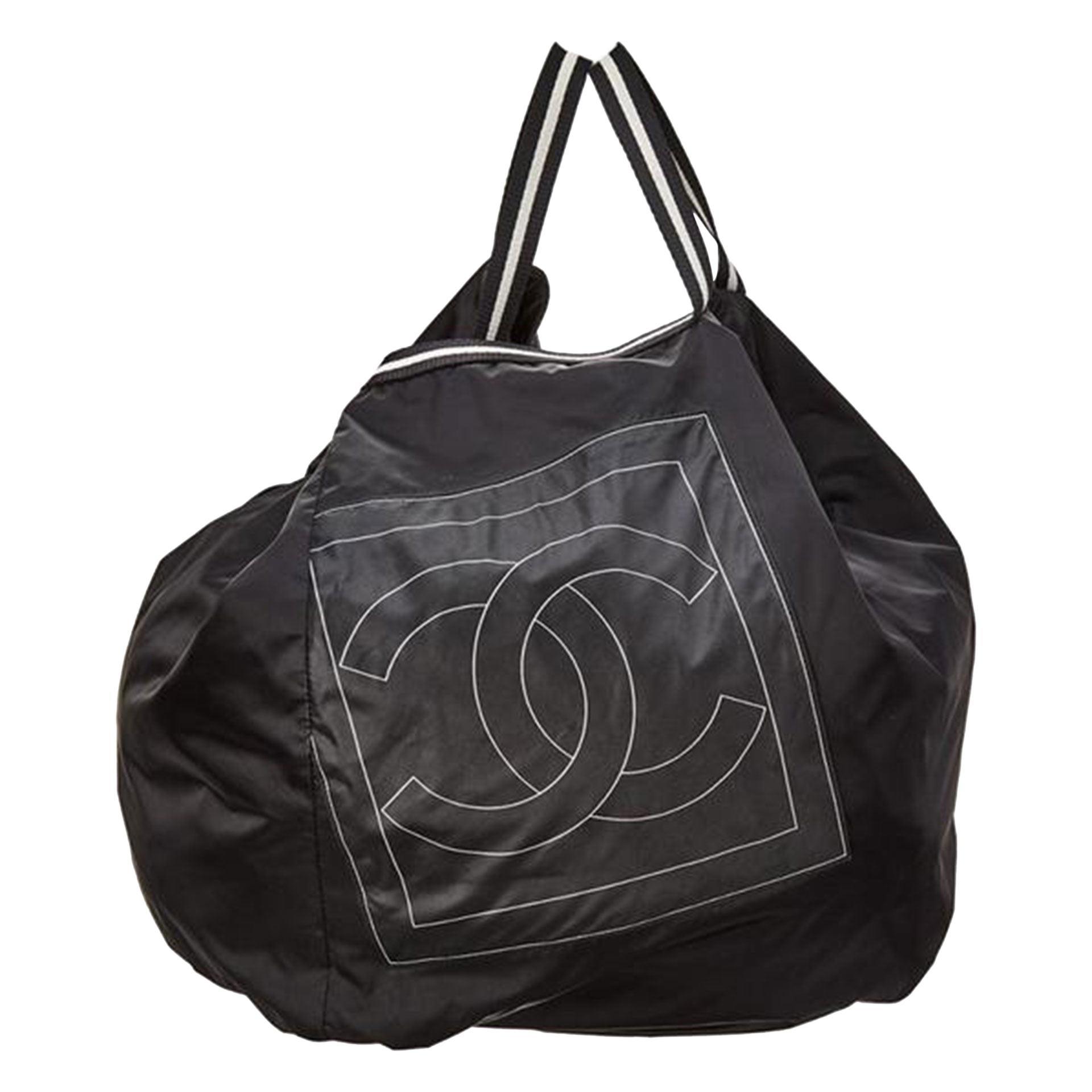 Chanel Nylon CC Logo Sporty Gym Bag