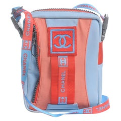 CHANEL Nylon Sport Crossbody Blue Red 2002 Sports Collection Unisex $2000