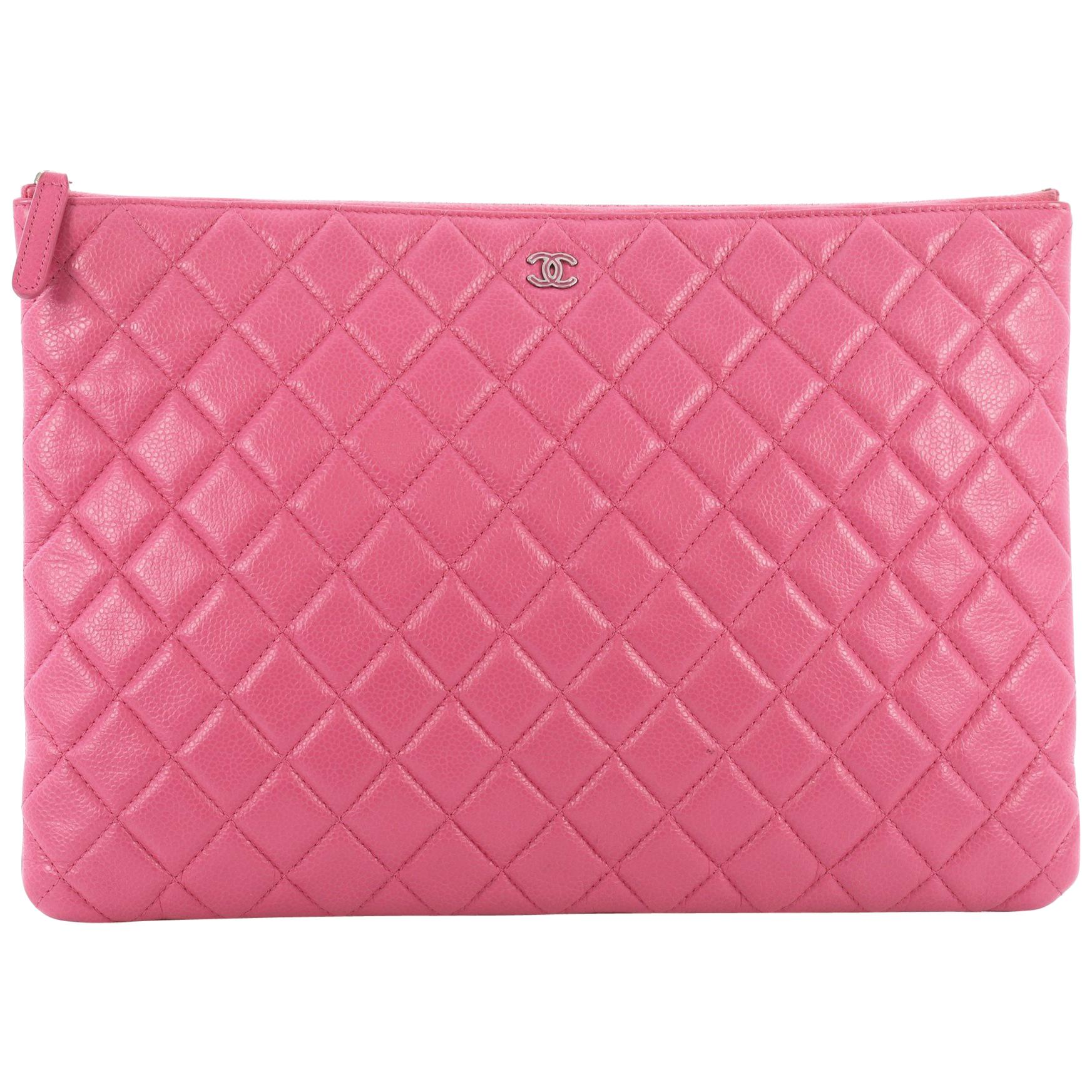 468db04c6d94 Chanel Mademoiselle Vintage O Case Clutch Quilted Sheepskin Mini at 1stdibs