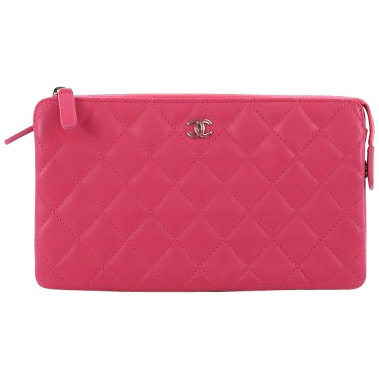 b7566c8e927e31 Chanel O Case Clutch Quilted Lambskin Small at 1stdibs