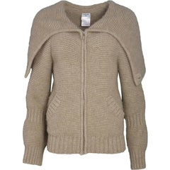 Chanel Oatmeal Cashmere Knit Sweater Sz FR38