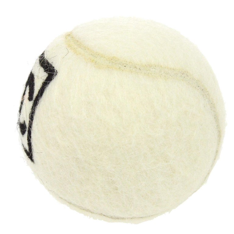 Chanel Off White Black CC Logo Sports Game Novelty Tennis Ball In Good Condition For Sale In Chicago, IL