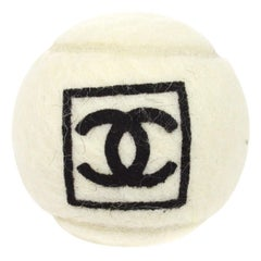 Chanel Off White Black CC Logo Sports Game Novelty Tennis Ball