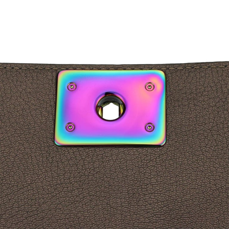 CHANEL Old Medium Boy Bag Bronze Iridescent Goatskin with Rainbow Hardware 2016 For Sale 8