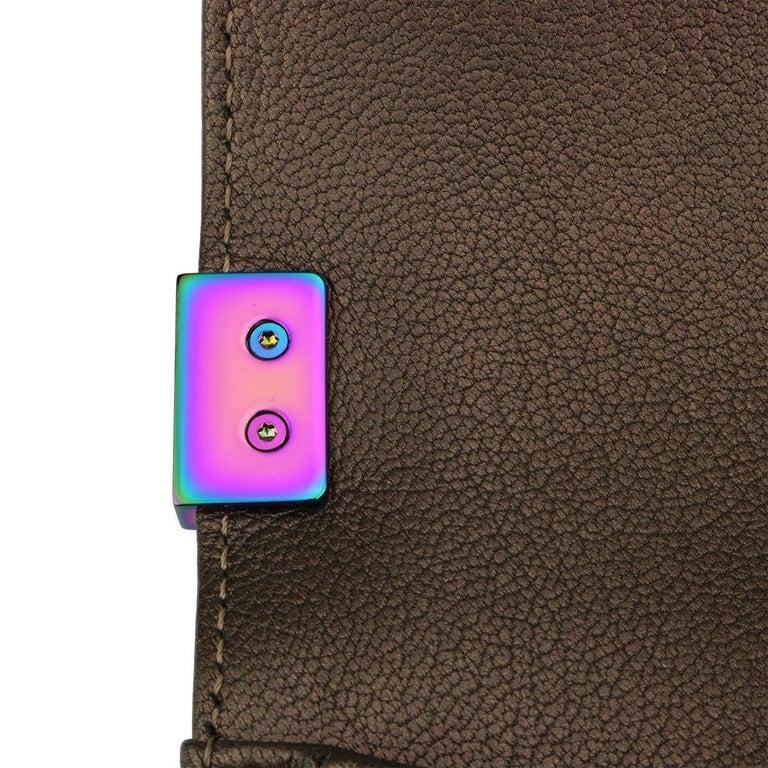 CHANEL Old Medium Boy Bag Bronze Iridescent Goatskin with Rainbow Hardware 2016 For Sale 9