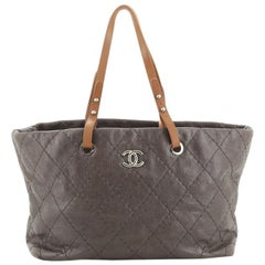 Chanel On The Road Tote Quilted Leather Small