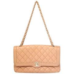 Chanel Orange Distressed Lambskin Diana Flap Bag No. 21