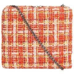 CHANEL orange IL QUADRATO TWEED BOX Shoulder Bag