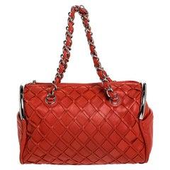 Chanel Orange Leather Ultimate Soft Sombrero Bowler Bag